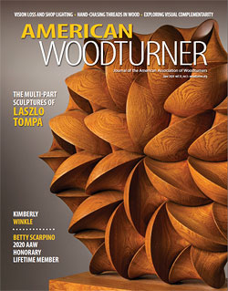 American Woodturner magazine cover, June 2020